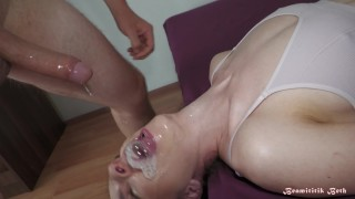 Beamititik Beth is making LoVe Bubbles while being sloppy facefucked and intensely bulge deethroated