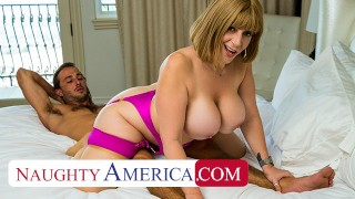 Naughty America - Hot Milf Sara Jay works her fat ass on young cock