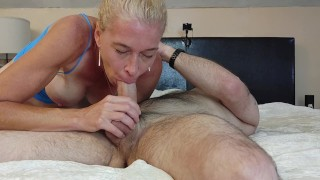 ROMANTIC Long Edging SENSUAL BLOWJOB until he gives PUSSY Very hard PASSIONATE POUNDING! Real Orgasm