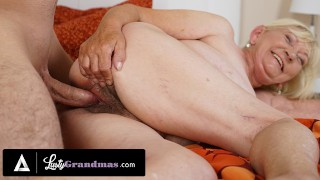 LustyGrandmas Naughty Granny's Hairy Pussy Has Been Craving Cock For Weeks!