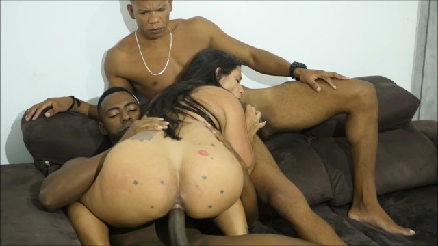 STONE- Sexy Milf Fucking Two Huge Bbc In All Their Holes