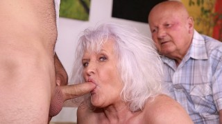 MATURE4K. Old man cant satisfy wife so she makes move on handsome waiter