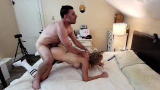 Real Couple - Quick Sensual DEEPTHROAT Blowjob & Very Hard Passionate Pounding! Full Length OnlyFans