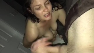 She goes crazy to eat ass