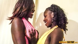 african queens sharing big cock in threesome