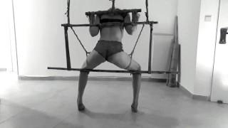 One orgasm is never enough - Bondage tied up anal fuck from behind - real home made BDSM