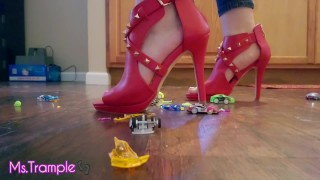 Tiny Toy Car Giantess Trample w/ Uggs, Heels, Adidas Superstars & Barefoot Foot Show Clip