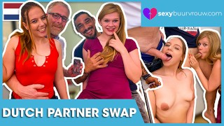 Dutch foursome - do not get jealous: Ivey Passion & Miss P (NETHERLANDS) - SEXYBUURVROUW