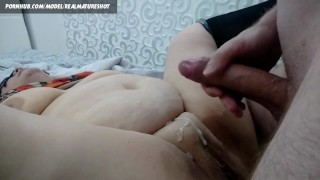 Cum on mature stepmom phat belly - Cumshoot compilation
