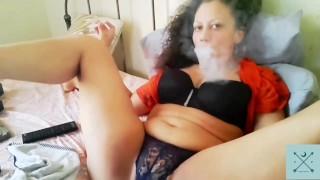 Mature Smoking Masturbation