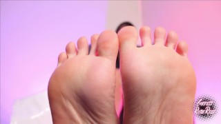 Goddess Rosie Reed Ebony Foot Fetish Soles POV Lick Sweaty Soles