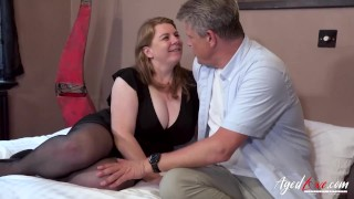 AGEDLOVE Mature Lady Rachel Receiving Two Handy Cocks of Marc Kaye and Cheffie Shot