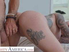 Naughty America - Tattooed Bombshell Karma Rx fucks her friend's ex in the bathroom