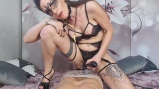 Facesitting & Squirting on tied up sub POV