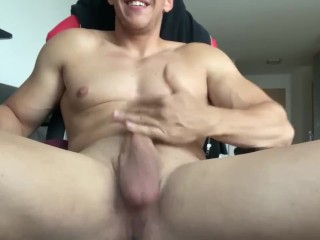 SEXIEST COCK ON PORNHUB SQUIRTING CUM ALL OVER THE PLACE + SUPER LOUD