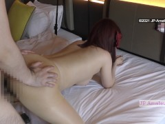 Creampie for My Japanese MILF Fuck Buddy She Has Hairy Pussy