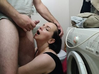 StepBrother Fuck's StepSister cum in mouth