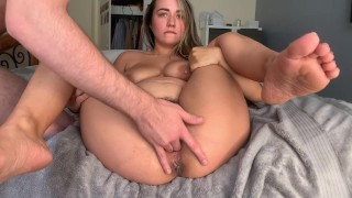 boyfriend makes my fat pussy SQUIRT & then cums all over me!
