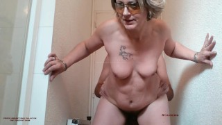 Oops, ... I caught the stepmom 47 years in the bathroom