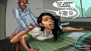 Detention season #2 Ep. #3 - Spanish Teacher Wants Collage Student's Big Black Cock