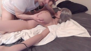 Tit slapping sex doll fuck
