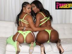 PansexualX - Jenna Foxx Ass Fucks Ebony Trans Babe With Strapon