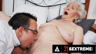 21 SEXTREME - Super Old Granny Wants Her Hairy Pussy To Feel Fresh Again