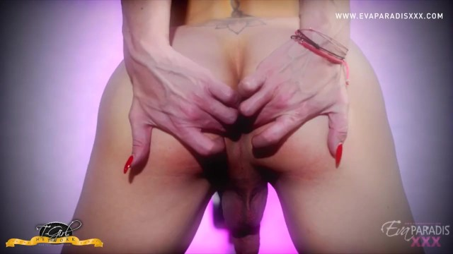 Eva Playing with Her Hot Cock and Ass