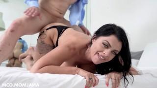 impudent guy tricks milf into anal