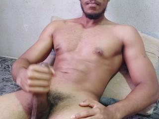 very horny, masturbating and enjoying hard without pity