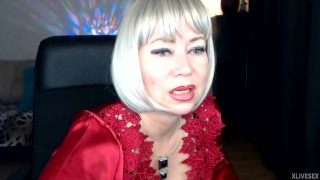 A new private show of the famous russian MILF slut AimeeParadise .!.