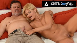 GrandpasFuckTeens Blonde Cutie Kitty Rich Puts Old Man's Pull-Out Game To The Test