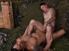 ActiveDuty - SGT Takes Muscle Hunk Newbies Gorgeous Cock