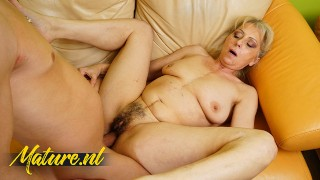 Hairy Mature Lady Is Desperate For Some Hard Cock!