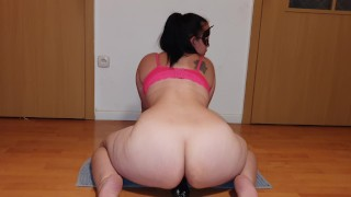 Dominant Wife Nymphadora is a BBC lover,now she enjoys a Big Black Dildo,while wimp hubby is at work