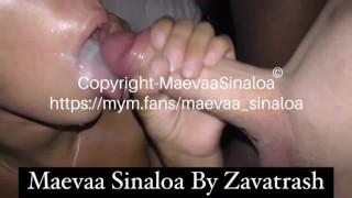 Maevaa Sinaloa - Blowbang et baise hard en club échangiste grosse douche de sperme avec 2 copines