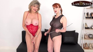 JOI with beautiful matures Lady Sonia and Red XXX