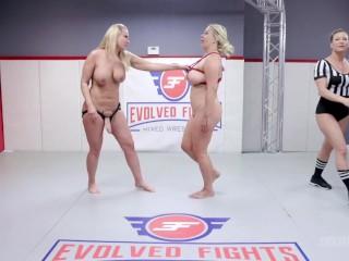 Evolved Fights Mellani Monroe Vs London Rose In Hardcore Naked Wrestling