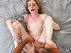 Real Teens - Tattooed Ailee Anne Flashing Before POV Sex In Hotel Room