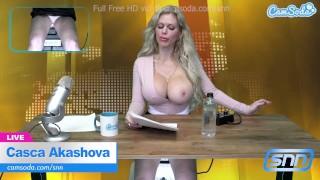 Big Tit MILF news anchor has wild ride on sybian