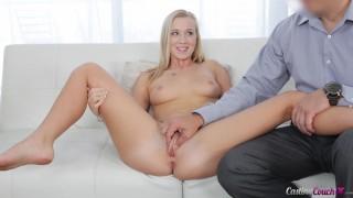 BAILEY BROOKE'S FIRST SCENE! Petite & Curvy Blonde Enjoys Her Shoot