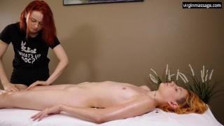 Pussy massage virgin lesbian orgasms
