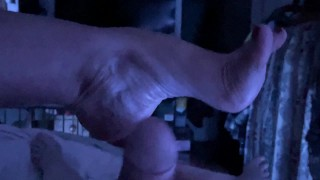 He Put A Remote Vibrator Up My Ass Then Fucked My Feet Cum Everywhere
