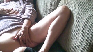 As She Fingers Her Pussy, I couldn't resist, so I Throat Fuck Her and We Cum Together...