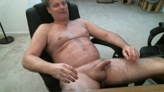 7 minute masturbation in office chair with cumshot!
