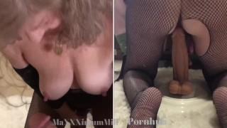 Sexy Mature Milf Gives POV BJ While Riding Monster Dildo•SPLIT-SCREEN Teaser-13+ min vid Onlyfans🔥