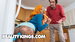 Reality Kings - Mini Stallion Rides Her Suction Dildo & Sucks A Popsicle Until Steve Holmes Shows Up