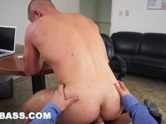GRAB ASS - Employee Scott Riley Constantly Distracted By His Boss Adam Bryant's Exposed Cock