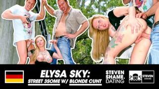 2 dicks deserve my BIG NATURAL TITS - OUTDOOR 3some with Elysa Sky - StevenShameDating