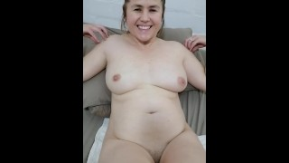 Sexy milf Lizzy showing us her naked body and shaved pussy